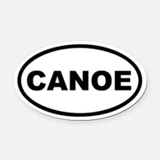 Canoe Euro Oval Car Magnet