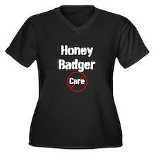 Honey Badger Cares Women's Plus Size V-Neck Dark T