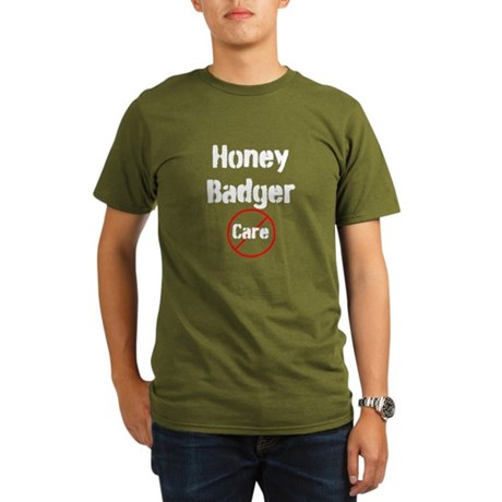 Honey Badger Cares Organic Men's T-Shirt (dark)