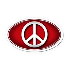 Big Peace RED - Oval Car Magnet