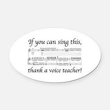 Teacher Oval Car Magnet