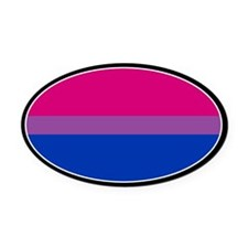 Bisexual Pride Oval Car Magnet
