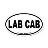 Chocolate labs Oval Car Magnets