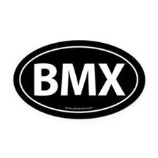 BMX Traditional Auto Oval Car Magnet -Black (Oval)