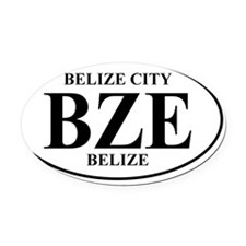 BZE Belize Oval Car Magnet
