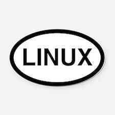 Linux Oval Car Magnet