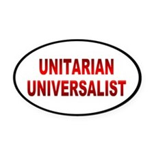 unitarian... Oval Car Magnet