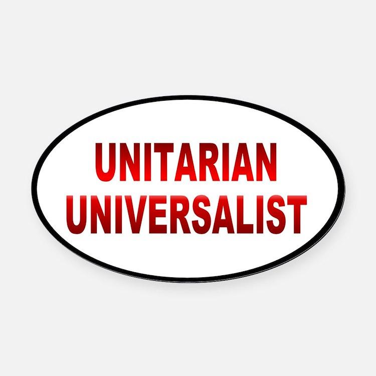 unitarian... Oval Car Magnet