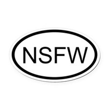 NSFW Oval Car Magnet