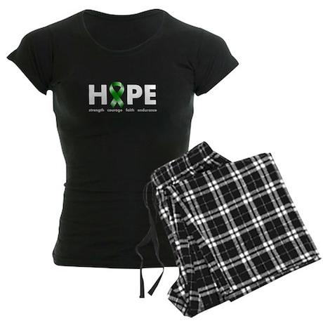 Green Ribbon Hope Women's Dark Pajamas