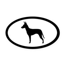 Manchester Terrier Oval Car Magnet