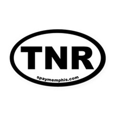 TNR Trap-Neuter-Return Oval Car Magnet