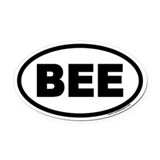 Bees Oval Car Magnets