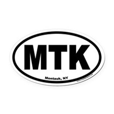 Montauk, NY MTK Euro Style Oval Car Magnet