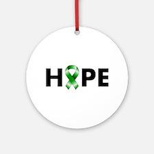 Green Ribbon Hope Ornament (Round)