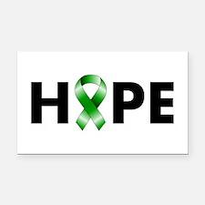 Green Ribbon Hope Rectangle Car Magnet