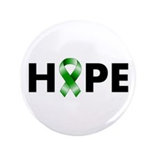 "Green Ribbon Hope 3.5"" Button"