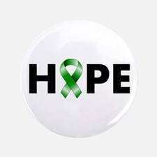 "Green Ribbon Hope 3.5"" Button"
