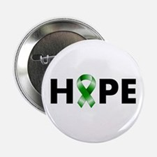 "Green Ribbon Hope 2.25"" Button"