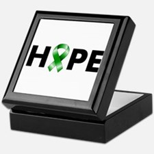 Green Ribbon Hope Keepsake Box