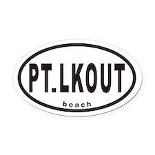 PT.LKOUT beach Euro Oval Car Magnet