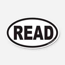 READ Euro Oval Car Magnet