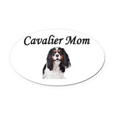 Cavalier Mom-Light Colors Oval Car Magnet