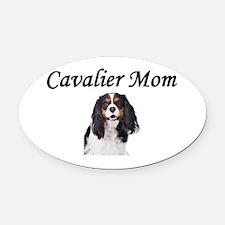 Cavalier Mom-Light Colors Oval Car Magnet