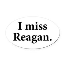 I Miss Reagan Oval Car Magnet