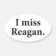 I Miss Reagan Oval Car Magnet