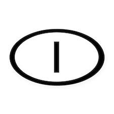 Italy Car Oval Car Magnet / Decal (Oval)