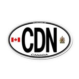 Canada Oval Car Magnets