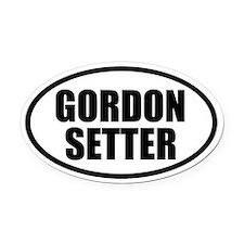 Gordon Setter Oval Car Magnet