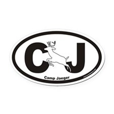 Camp Jaeger CJ Euro Oval Car Magnet with Deer