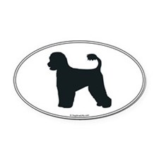 Portie Silhouette Oval Car Magnet