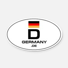 UN-Style Oval Automobile Oval Car Magnet - Germany