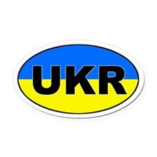 Ukraine (UKR) Flag Oval Car Magnet