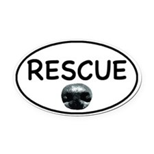 Rescue Nose White Oval Car Magnet (Oval)