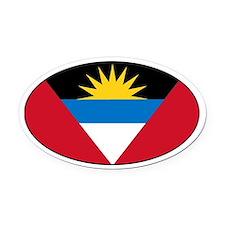 Antiguan flag Oval Car Magnet