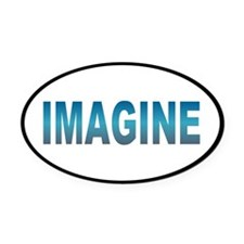 imagine... Oval Car Magnet