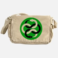 Double Oroborous (Green) Messenger Bag