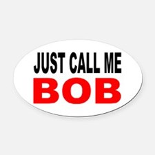 FIRST NAME 1 Oval Car Magnet