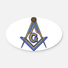 Cute Masonic Oval Car Magnet