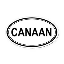Canaan Euro Oval Car Magnet