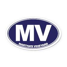 MV - Martha's Vineyard Oval Car Magnet