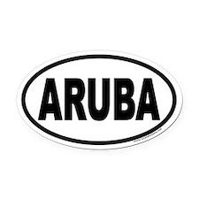ARUBA Euro Oval Car Magnet