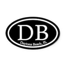 Daytona Beach DB Euro Oval Oval Car Magnet
