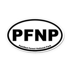 Petrified Forest National Park Oval Car Magnet