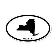 New York State Outline Oval Car Magnet