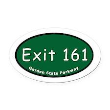 Exit 161 - NJ 4 - Teaneck / Oval Car Magnet